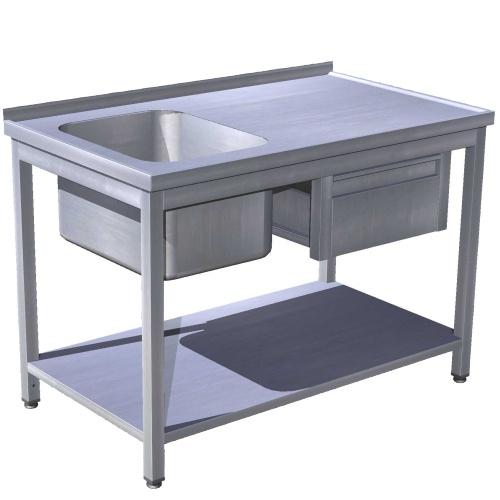 Mycí stoly bez police
