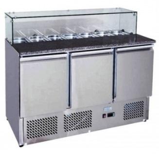 Stůl chlad.pizza 3D /MPS-1374GR