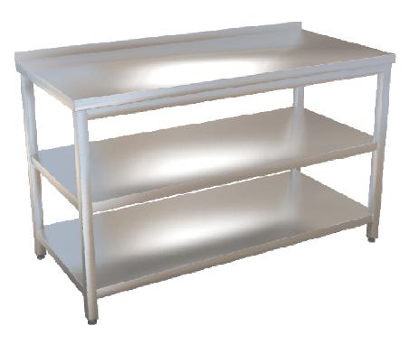 Stůl pracovní se dvěma policemi  70x70