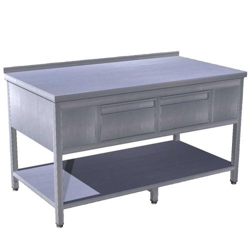 Stůl pracovní se dvěma zásuvkami SZ-2 110x70