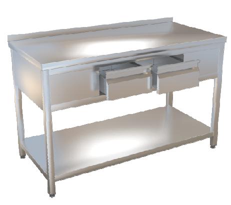Stůl pracovní se dvěma zásuvkami 140x70