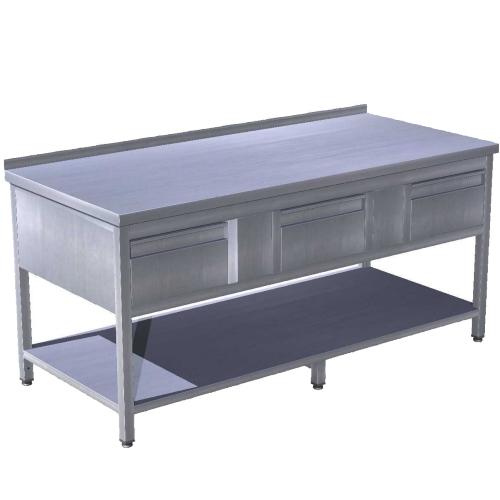 Stůl pracovní se třemi zásuvkami SZ-3 160x70