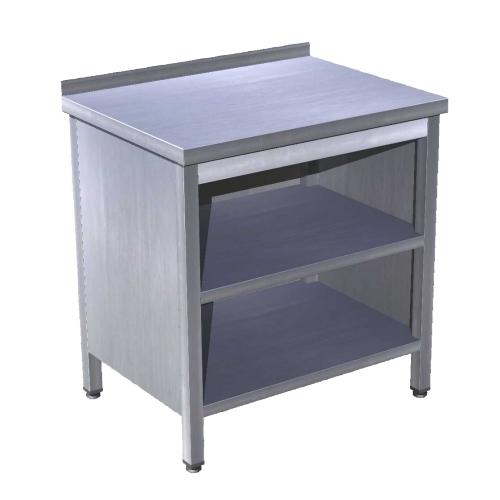 Stůl prac. uzavřený se dvěma policemi 90x70