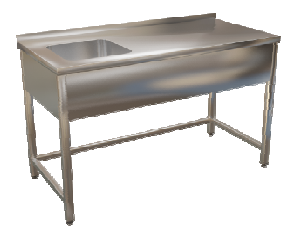 Stůl mycí bez police 120x70