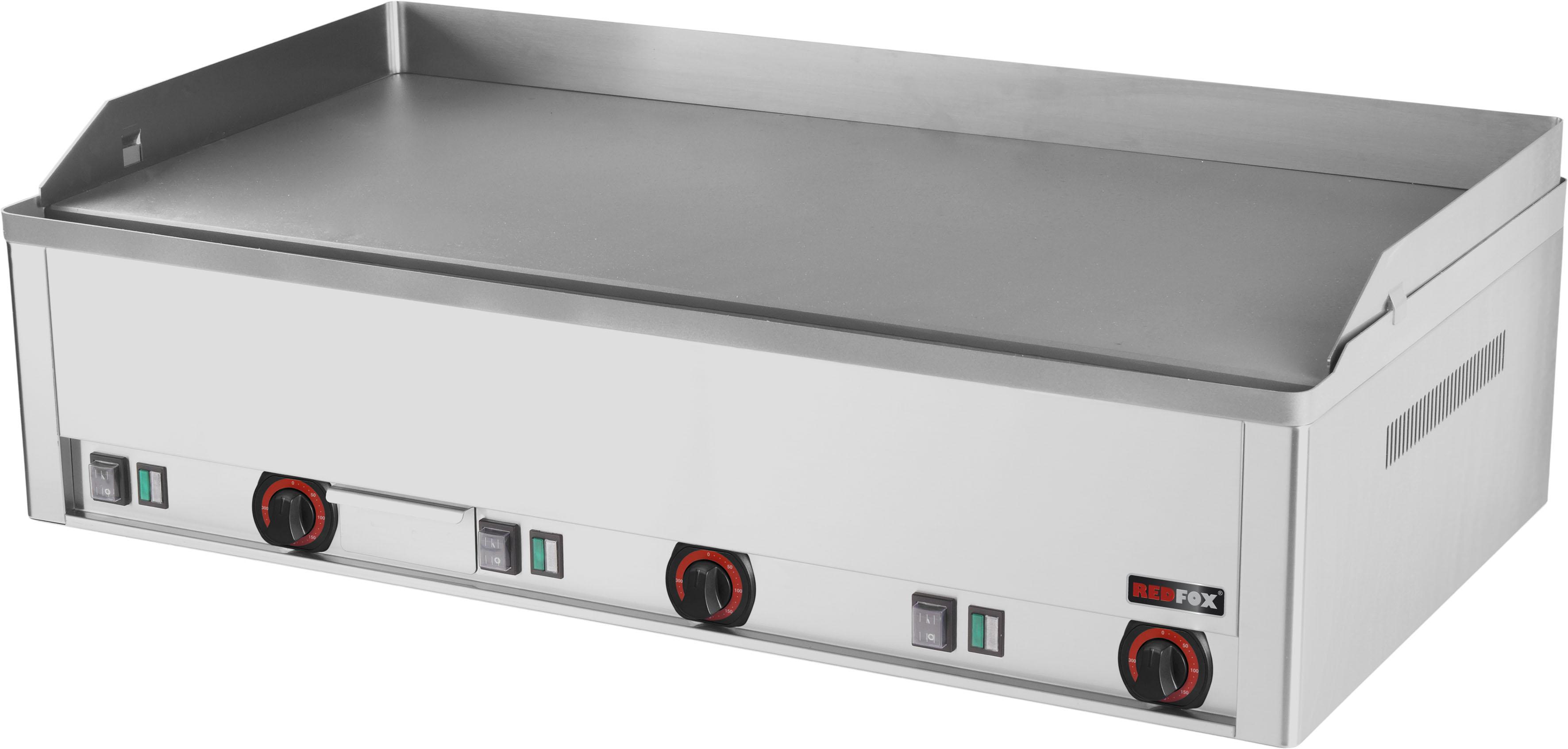 Deska grilovací elektrická FTH 90 E hladká ocelová REDFOX