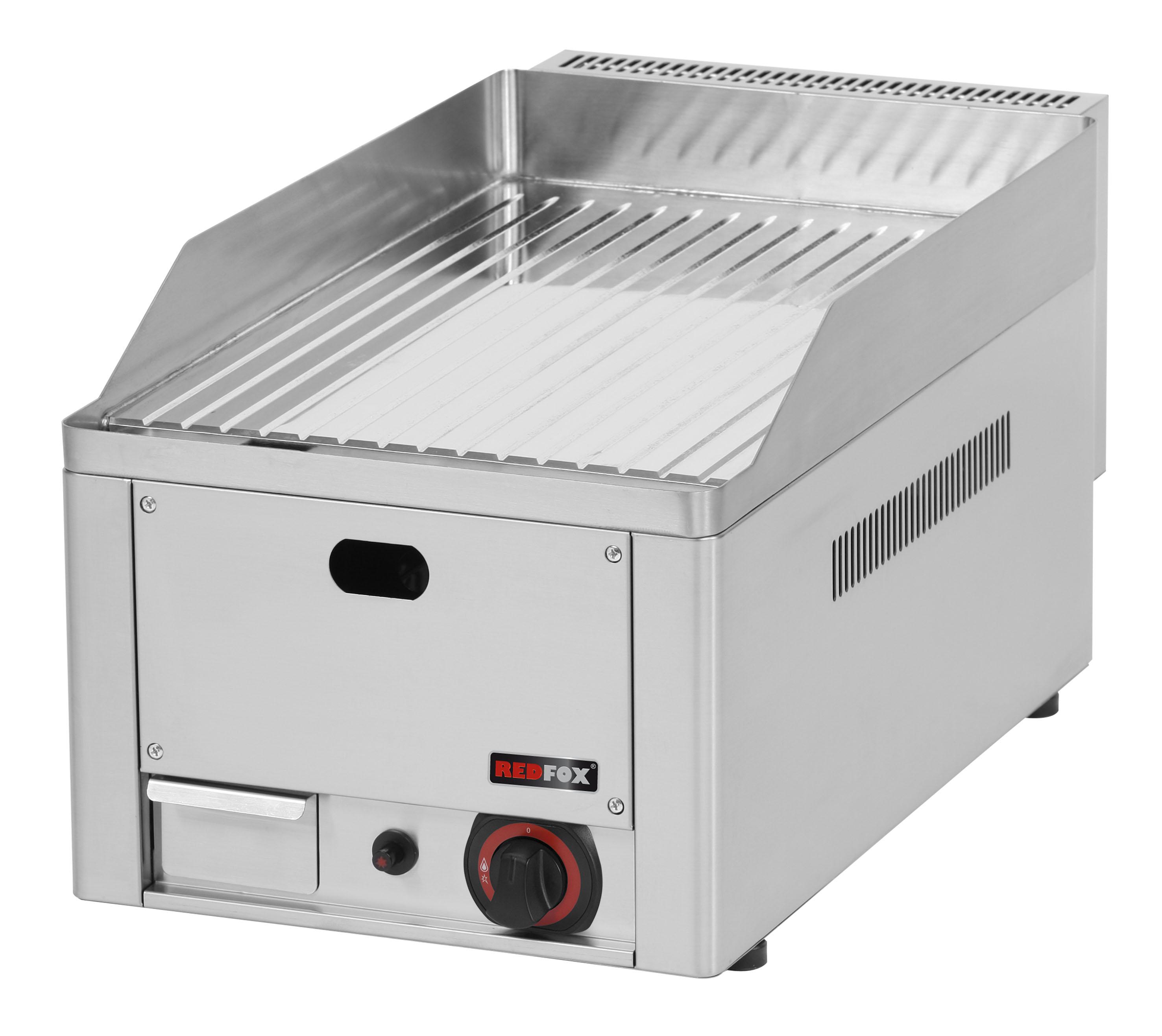Deska grilovací plynová FTRC 30 G rýhovaná chrom REDFOX