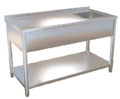 Stůl mycí s policí  180x70