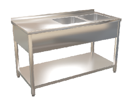 Stůl mycí s posuvnými dveřmi  140x70