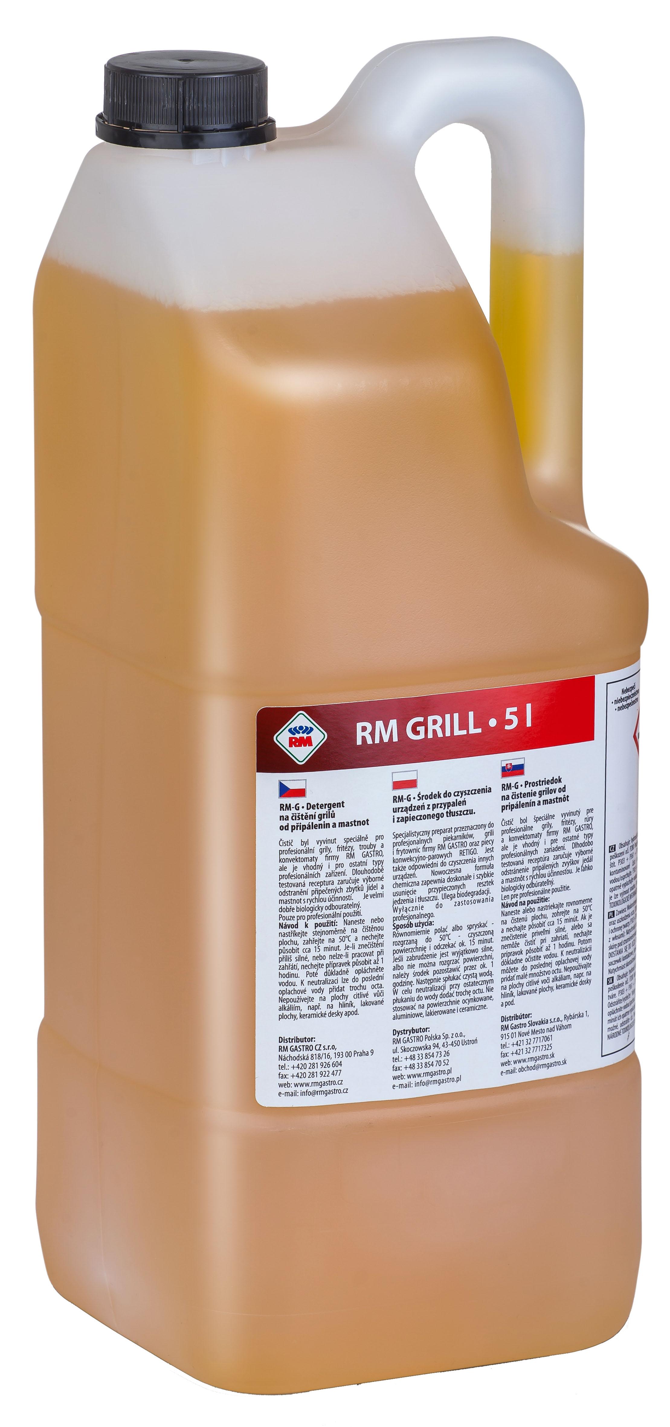 RM gril  5 kg - čištění grilů, připálenin, mastnot