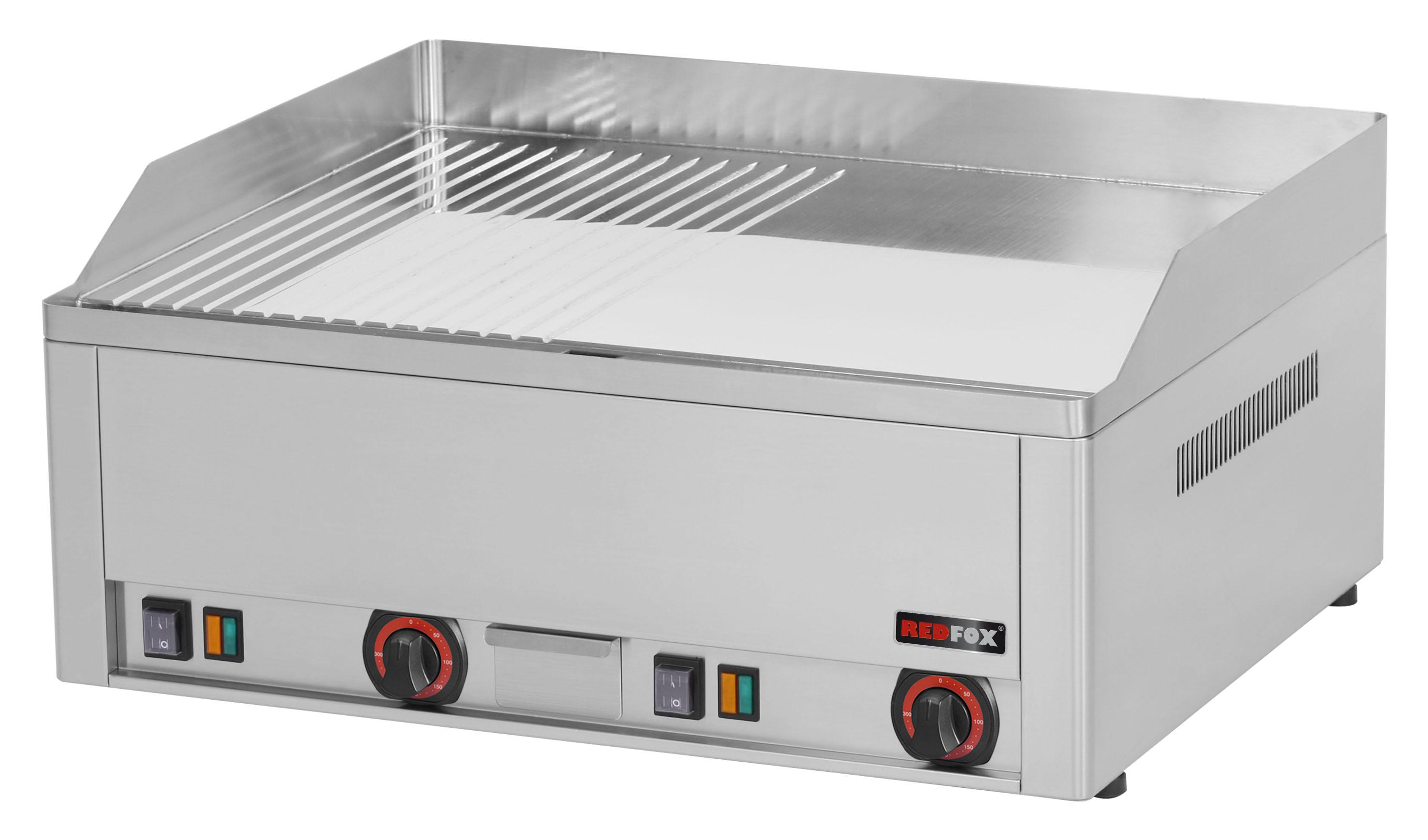Deska grilovací elektrická FTHRC 60 E kombinovaná chrom RedFox