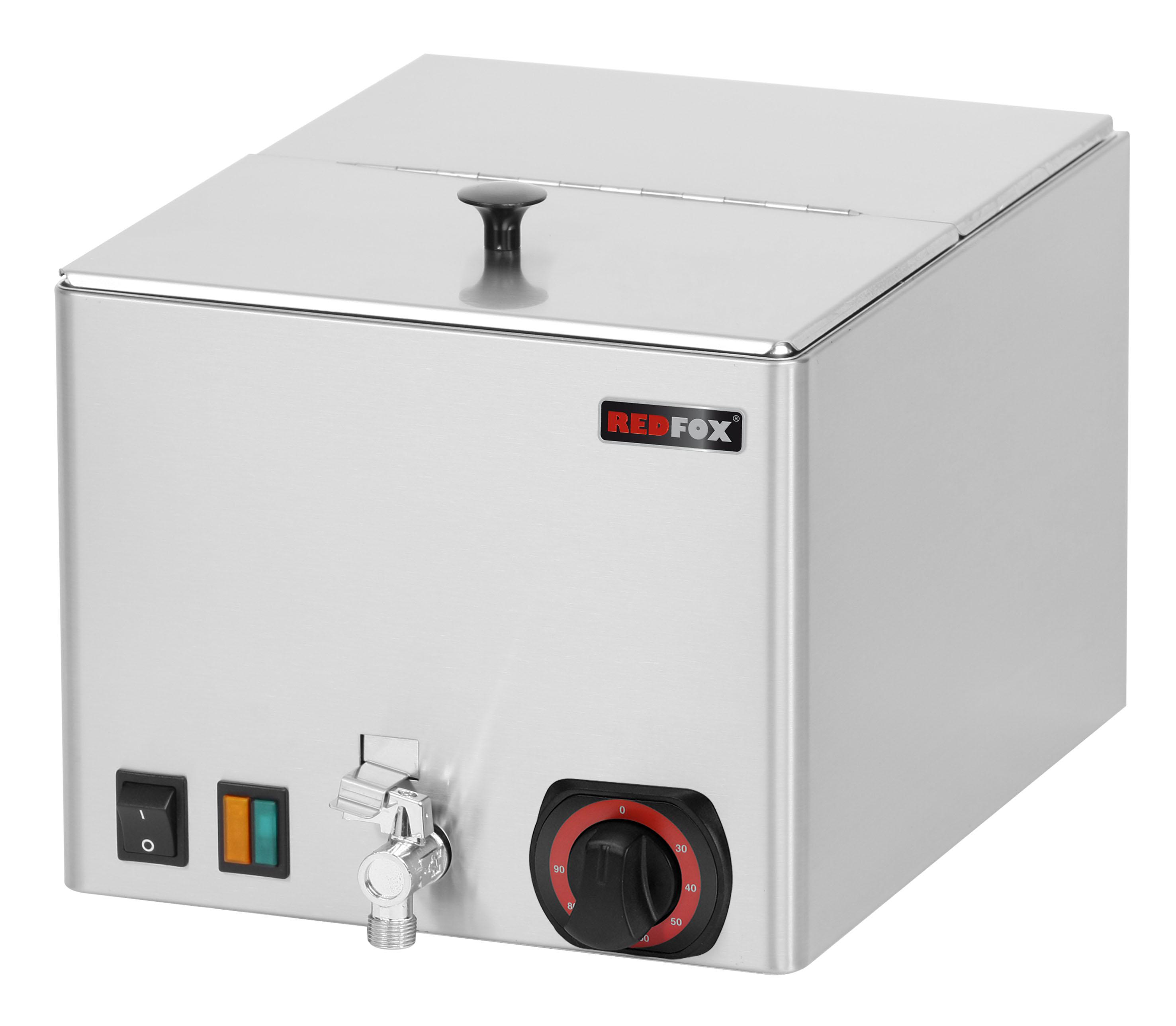 Ohřívač uzenin s výpustí WEV 12 REDFOX