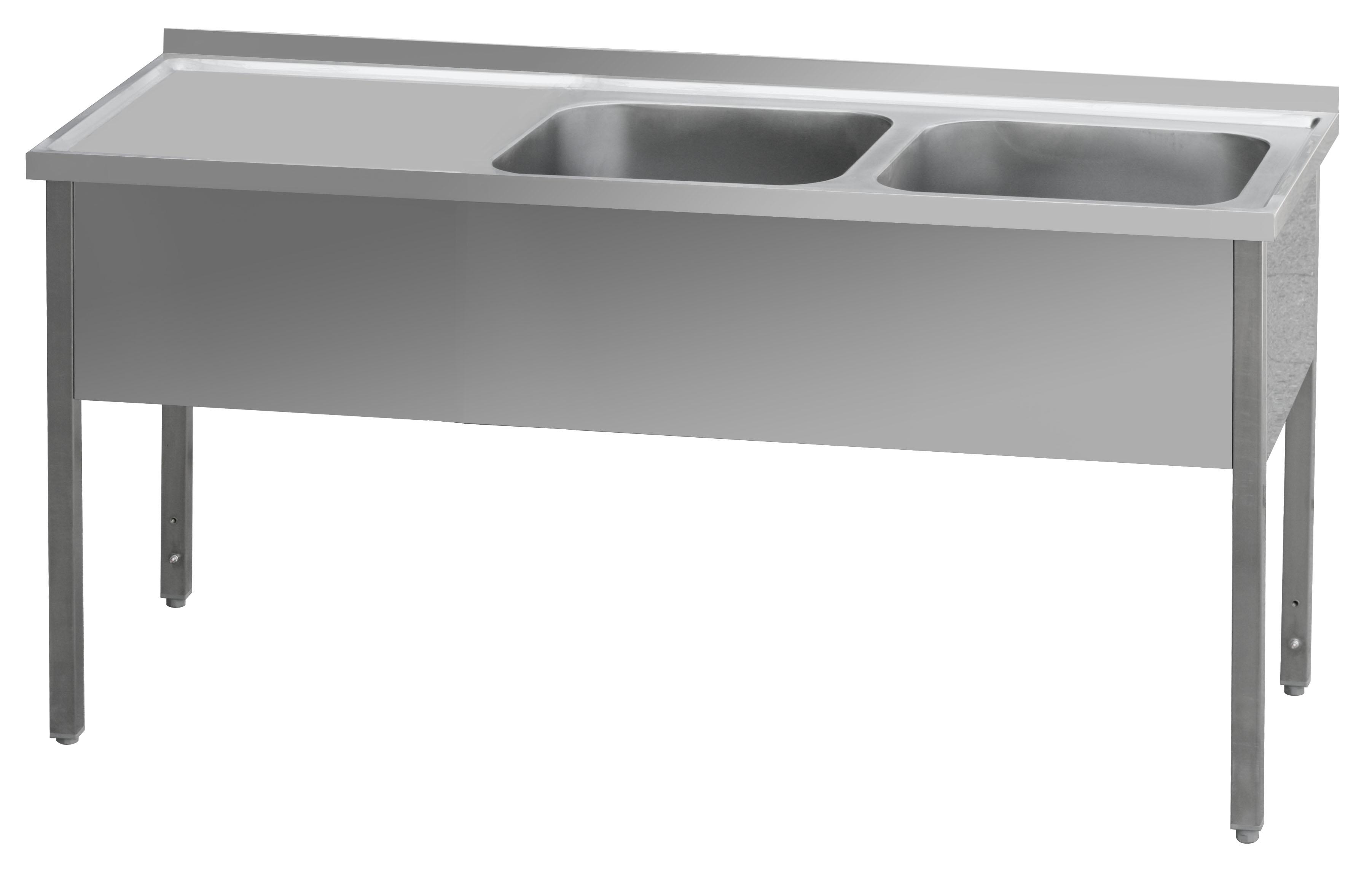 Stůl mycí dvoudřez MSDOL 140x70x90 REDFOX