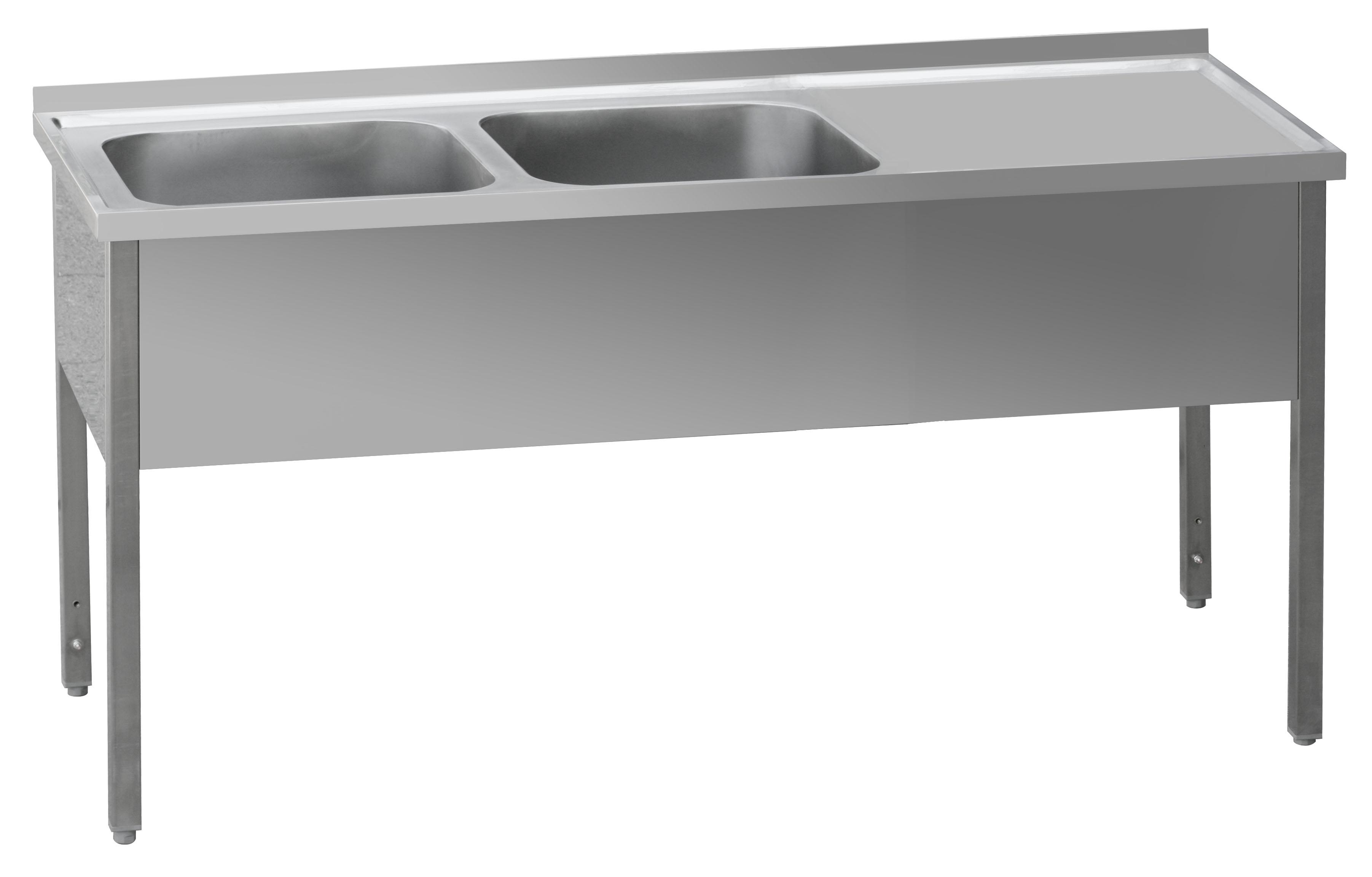 Stůl mycí dvoudřez MSDOP 160x70x90 REDFOX