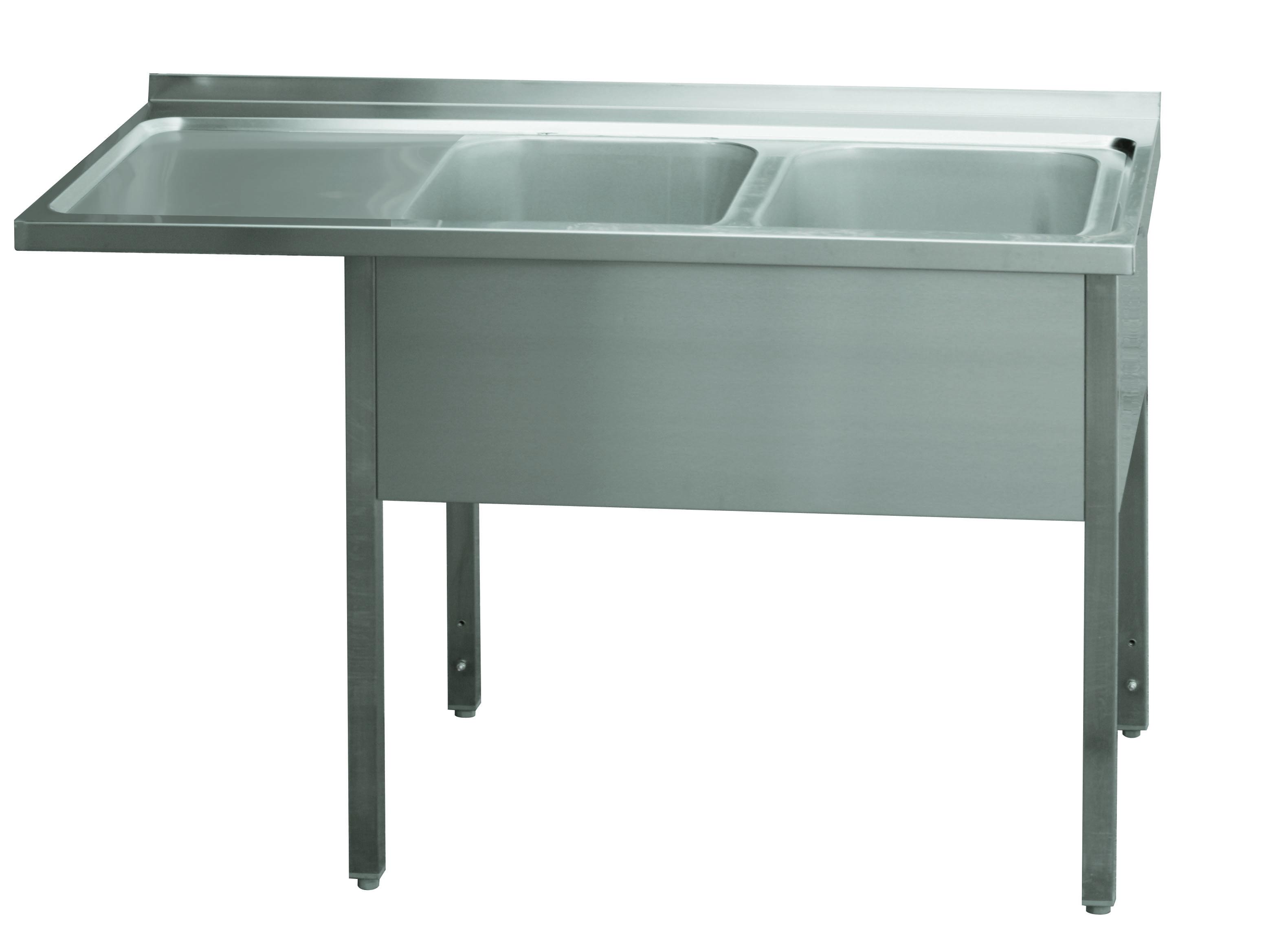 Stůl mycí dvoudřez MSDOL/M 160x70x90 REDFOX