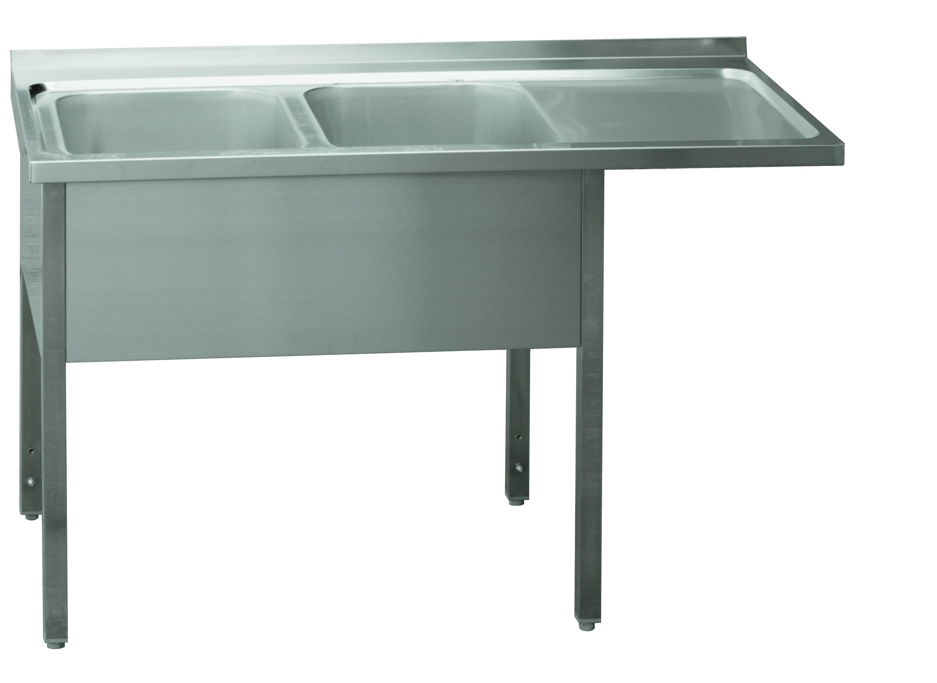 Stůl mycí dvoudřez MSDOP/M 160x70x90 REDFOX