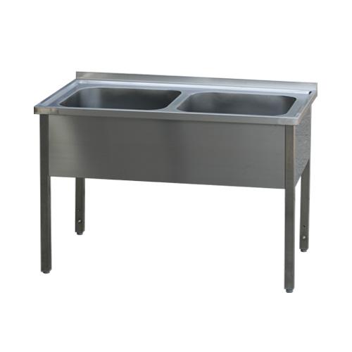 Stůl mycí dvoudřez MSD 140x60x90 REDFOX