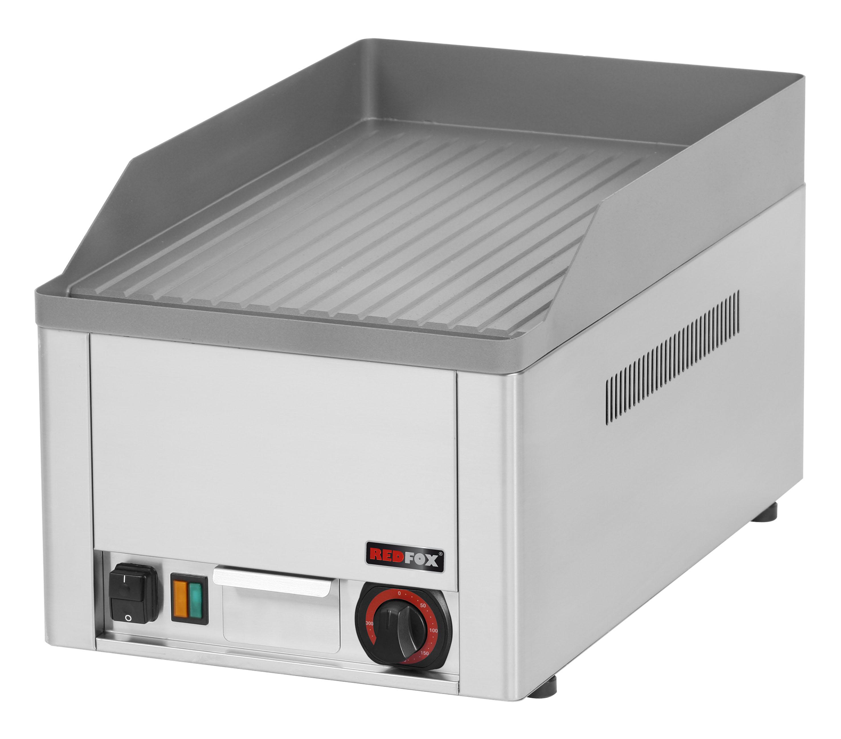 Deska grilovací elektrická FTR 30 E rýhovaná ocelová REDFOX