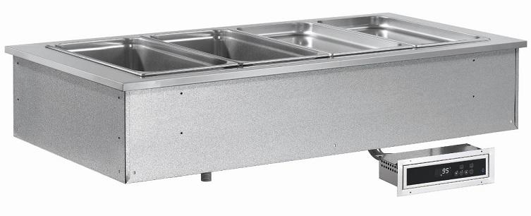 Výdejní vana vyhřívaná drop-in SL Red+ 6 GN 6-1/1