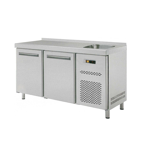Stůl chladící RT 2D dvoudvéřový s dřezem REDFOX