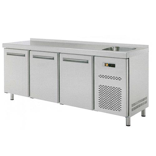 Stůl chladící RT 3D třídvéřový s dřezem REDFOX