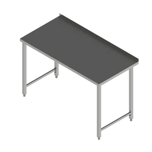 Stůl pracovní PS 160x70x90 nerezový bez police 100 REDFOX