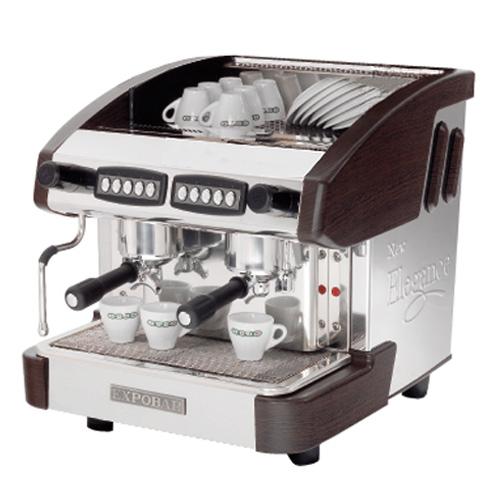 Kávovar EMC 2P/B dvoupákový černý REDFOX