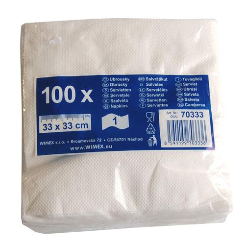 Ubrousky-bílé         100ks /70333