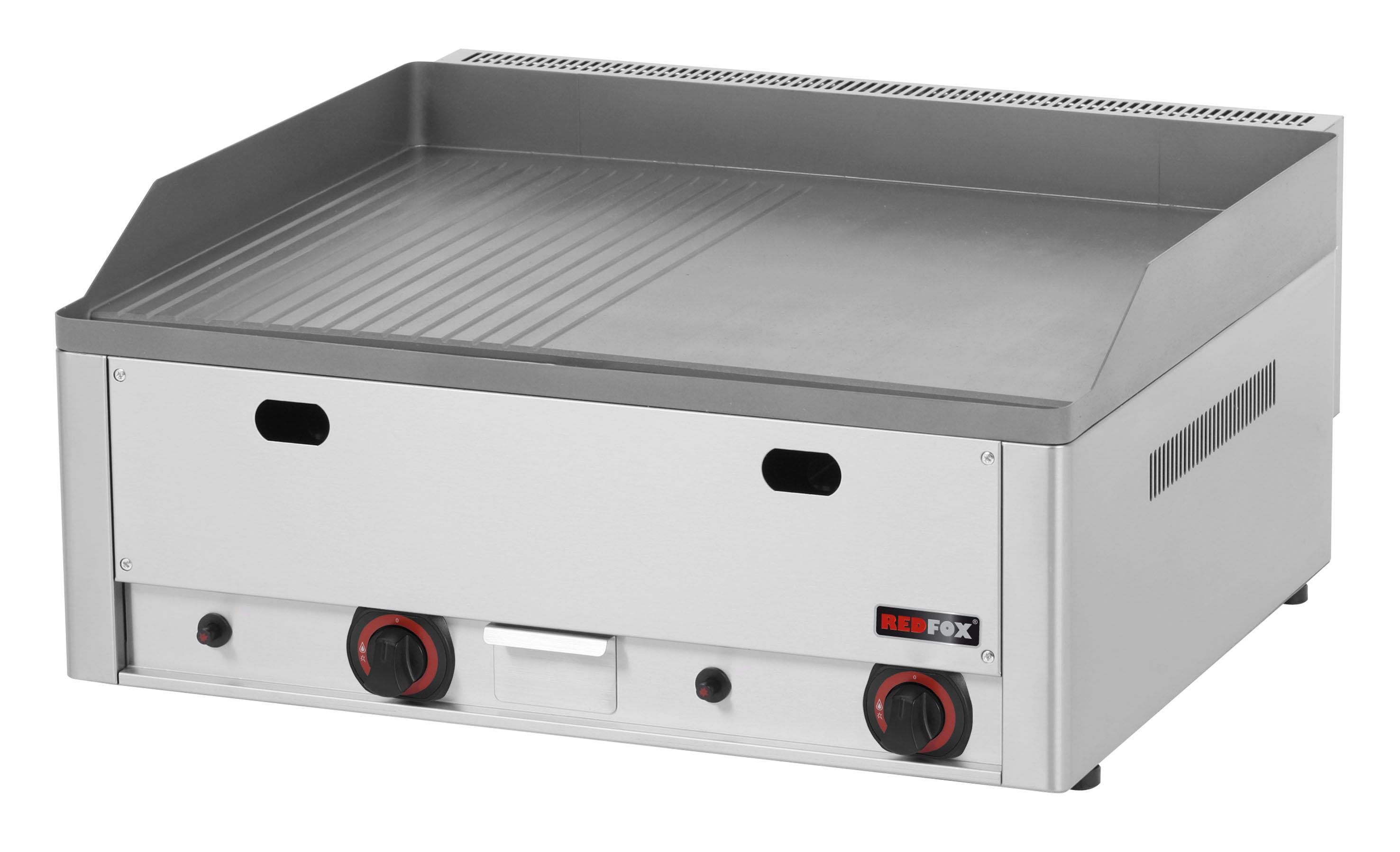 Deska grilovací plynová FTHR 60 G kombinovaná ocelová REDFOX