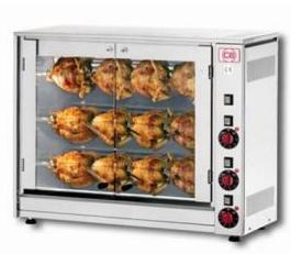Gril elektrický na kuřata E-12P-S3