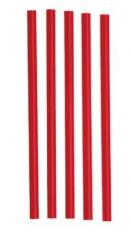 Slámka JUMBO 150ks /červená, černá