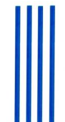 Slámka JUMBO 150ks /modrá