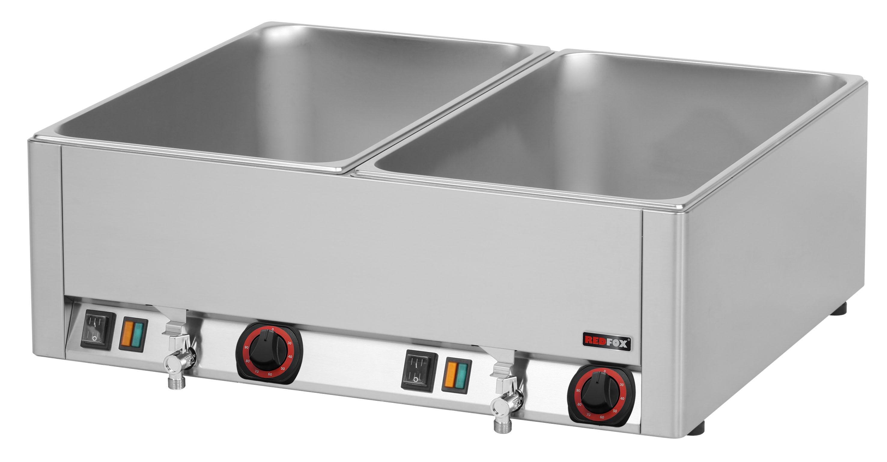Lázeň vodní elektrická BMV 2115 2x GN1/1 s výpustí RedFox