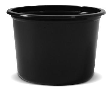 Miska kulatá černá pro SP-02