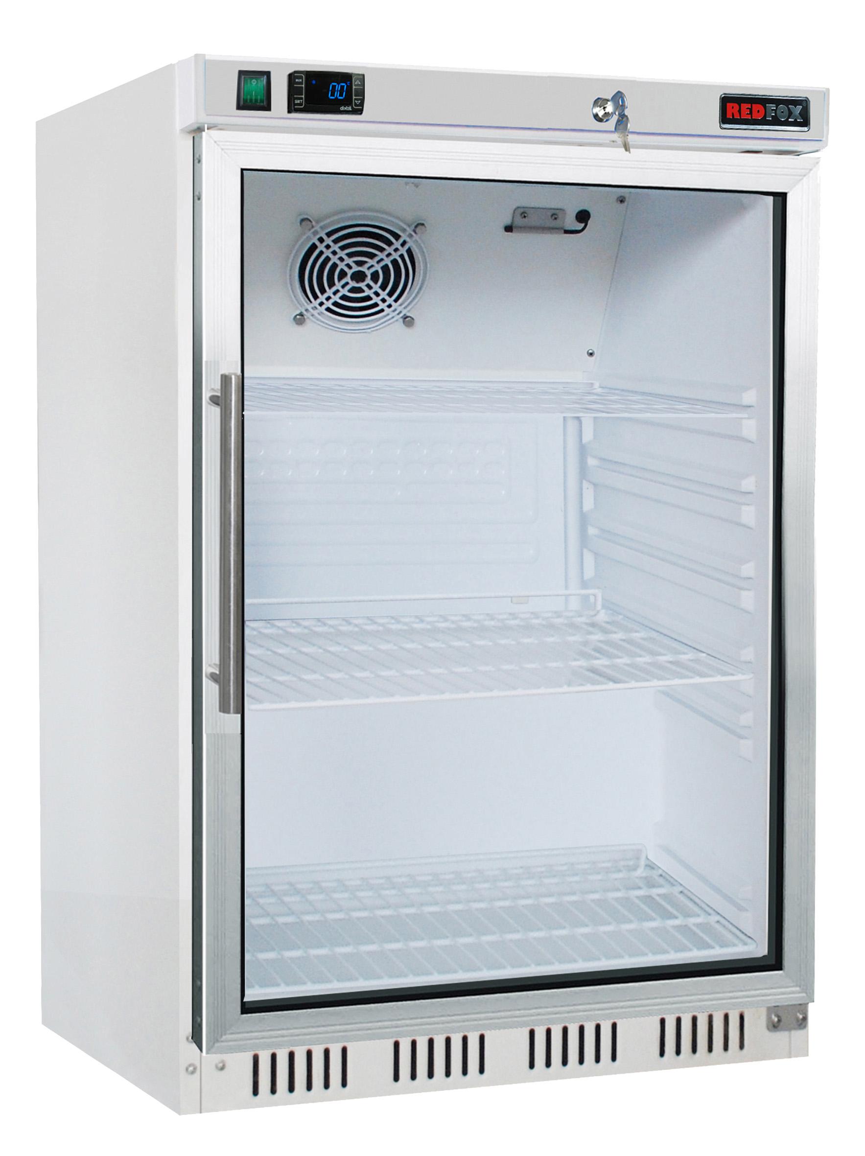 Skříň chladící HR 200/G lednice malá prosklené dveře REDFOX