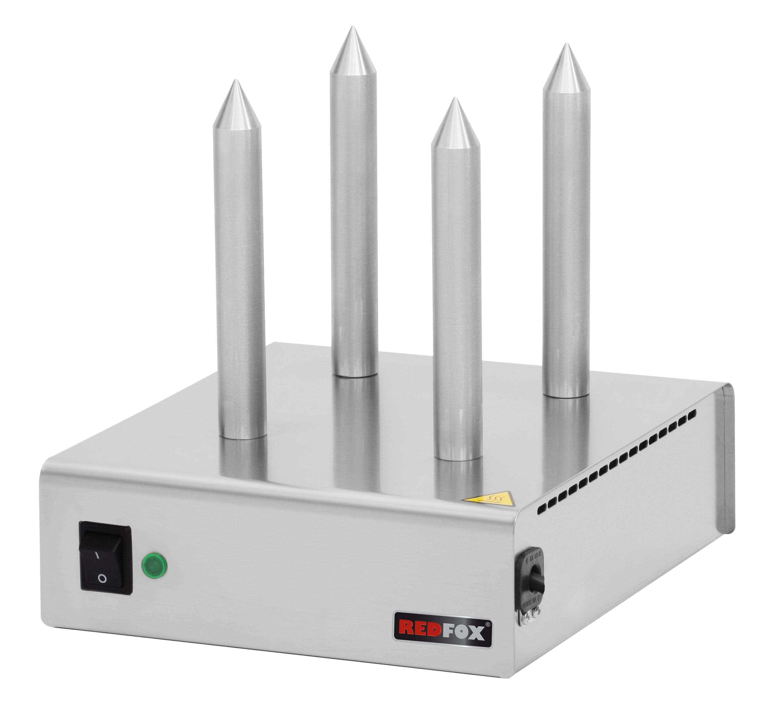 Hot-dog HD 04 4 trny RedFox ohřívač rohlíků