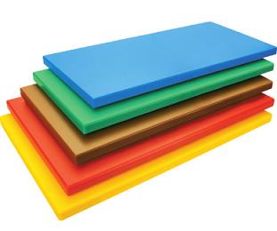Deska plast. 50x32  /žlutá
