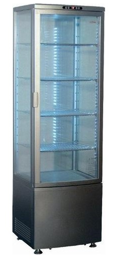 Vitrína chlad. RT235 nerez /cukr.