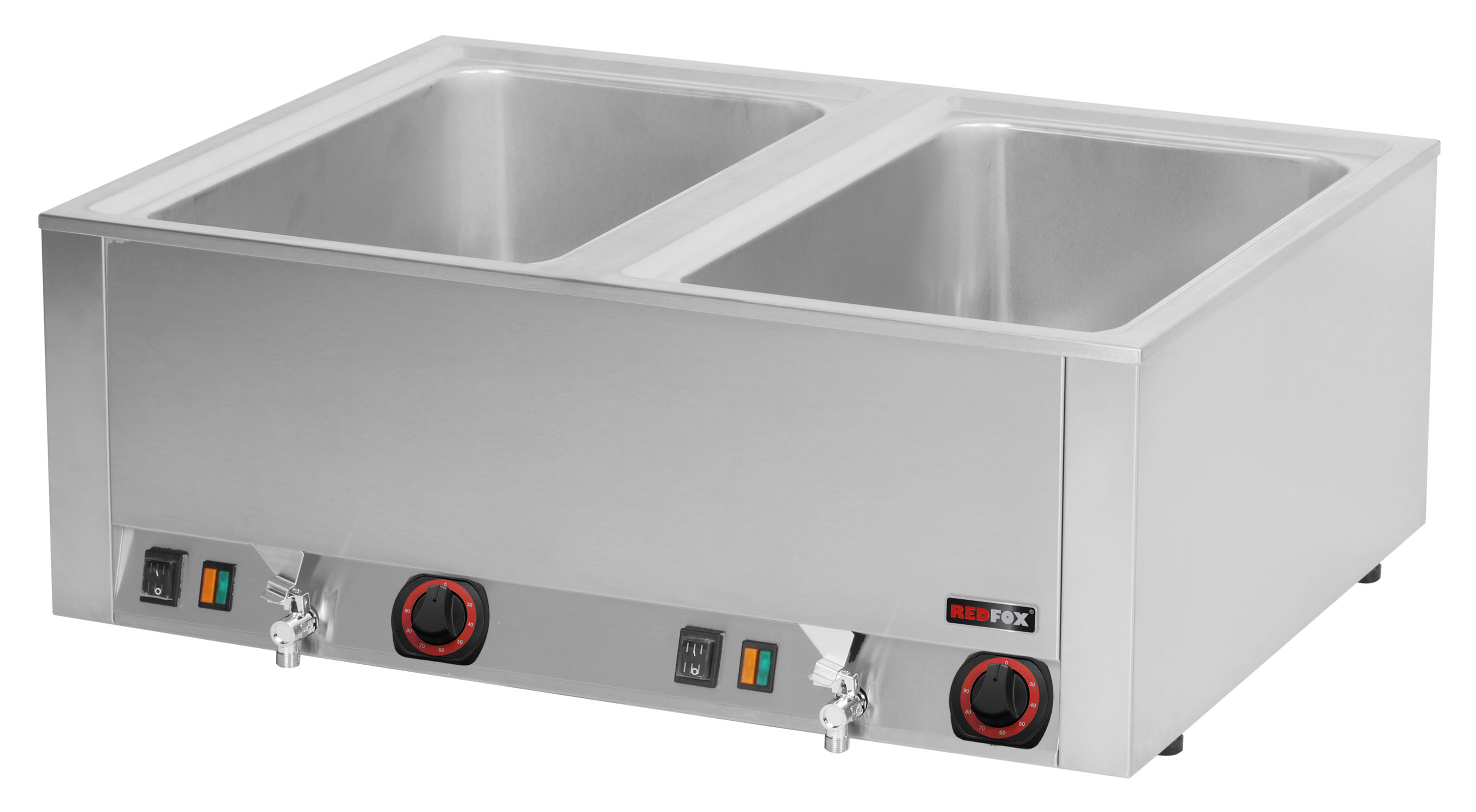 Lázeň vodní elektrická BMV 2120 2x GN 1/1 s výpustí REDFOX