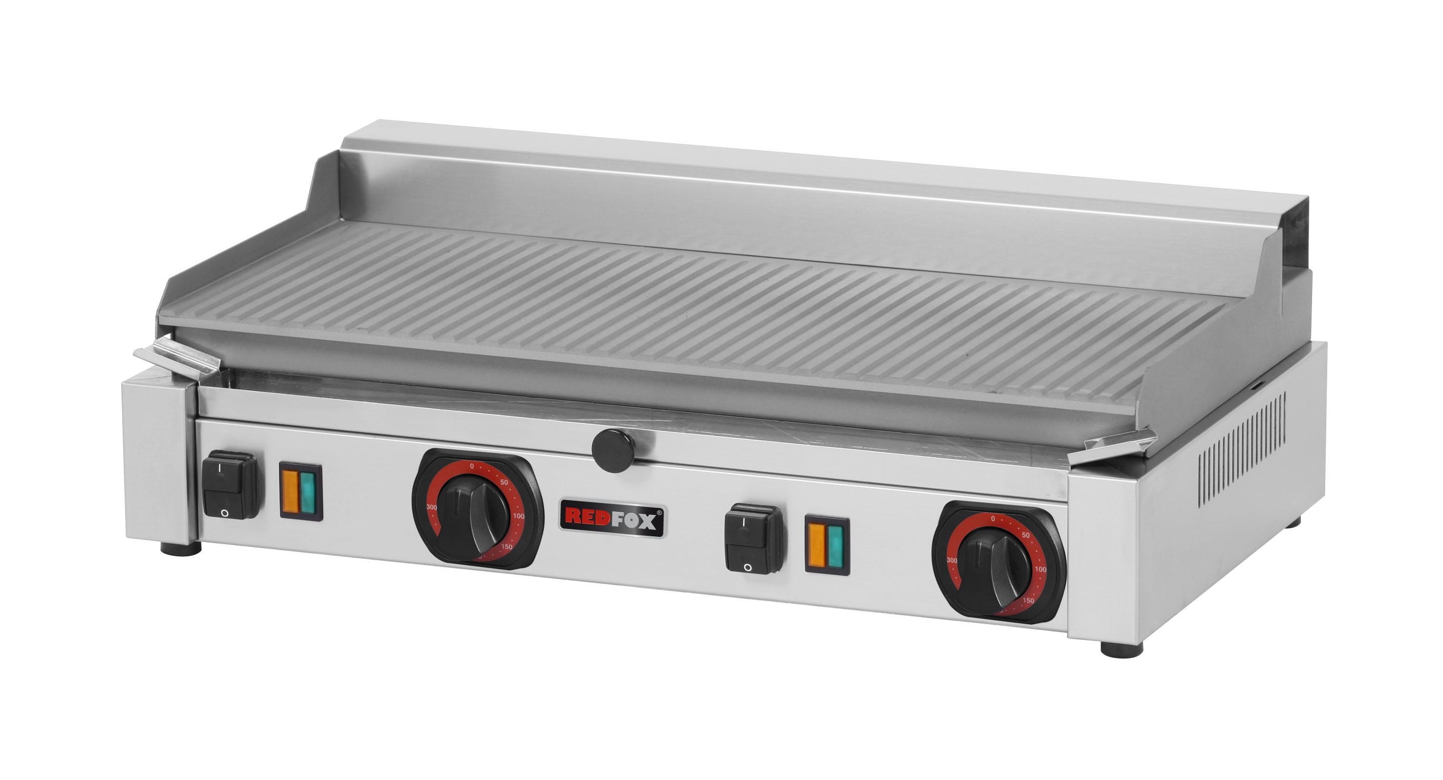 Deska grilovací elektrická PD 2020 BR rýhovaná ocelová RedFox