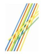 Slámka JUMBO  150ks /neon, stříbrná