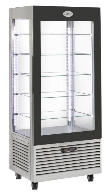Vitrína chlad. RD800 nerez /cukr.