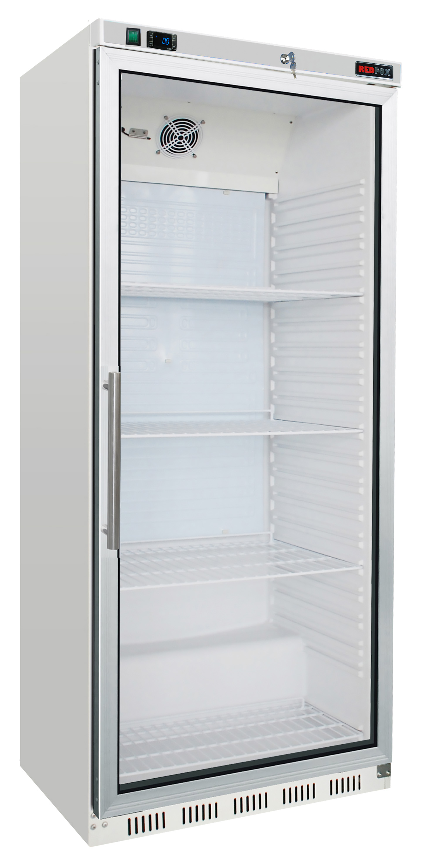 Skříň chladící HR 600/G lednice bílá prosklené dveře REDFOX