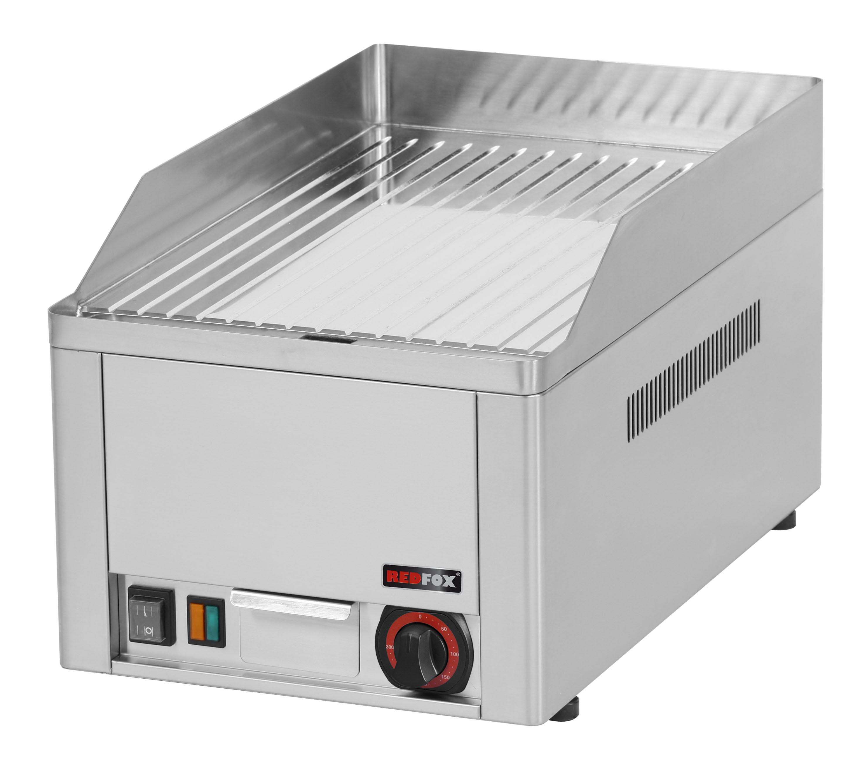 Deska grilovací elektrická FTRC 30 E rýhovaná chrom RedFox