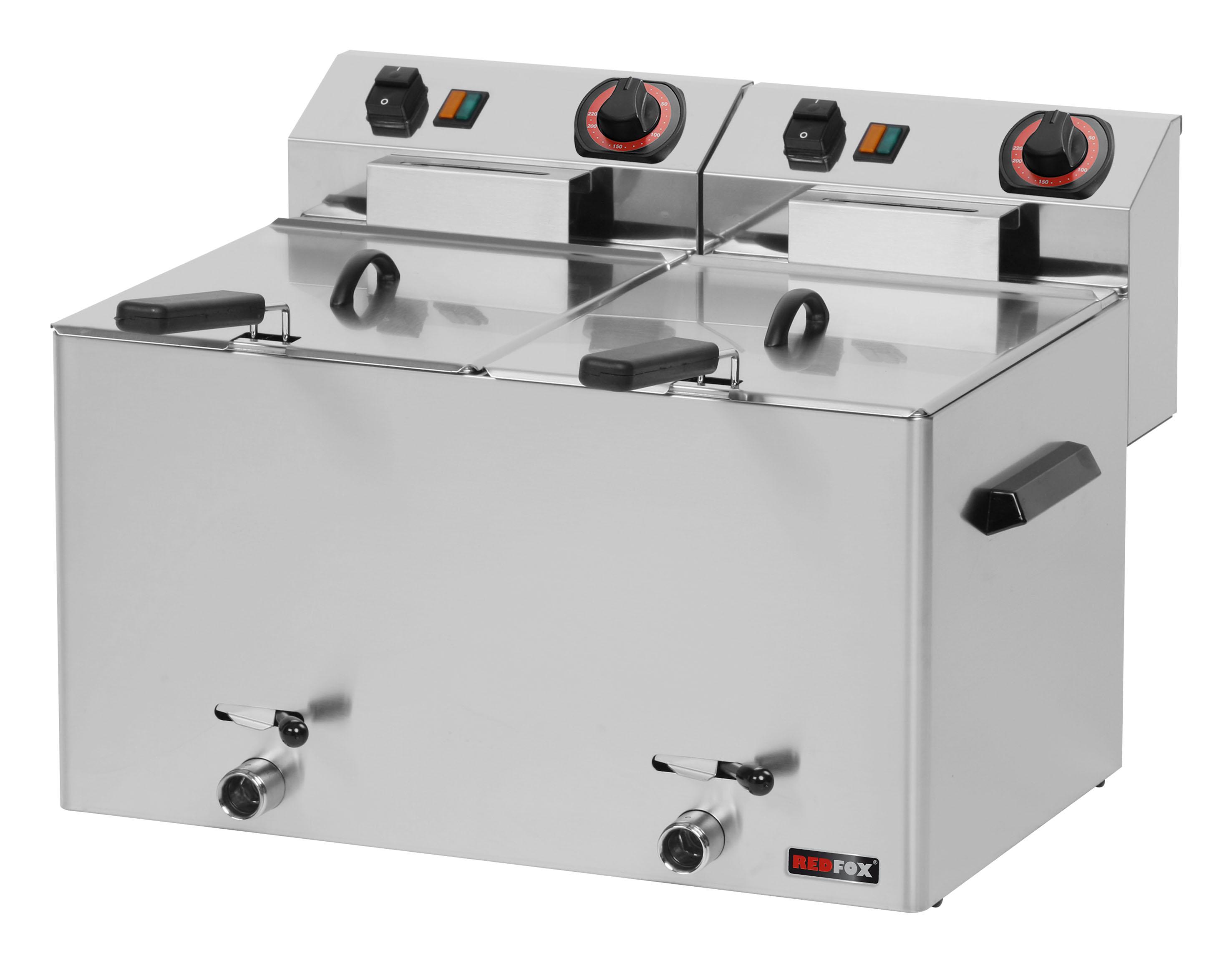 Fritéza elektrická 2x 8 l FE 77 V s výpustí REDFOX