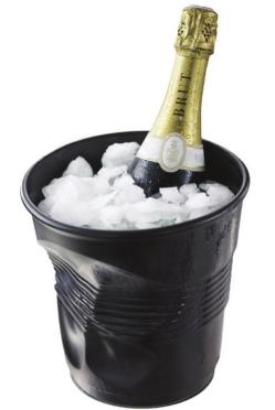 Kyblík na šampaňské černý