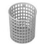 Košík na příbory plast  /kulatý